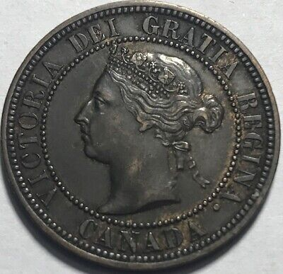 CANADA - Queen Victoria - One Cent - 1891 - Large Date - KM-7 -Extra Fine +