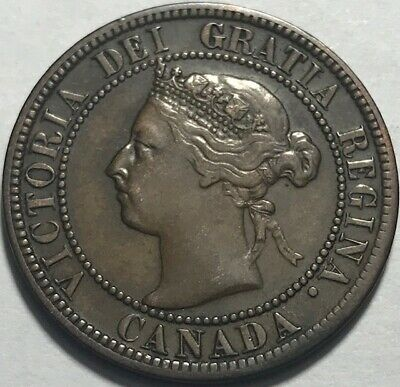 CANADA - Queen Victoria - Large Cent - 1893 - KM-7 - About Uncirculated