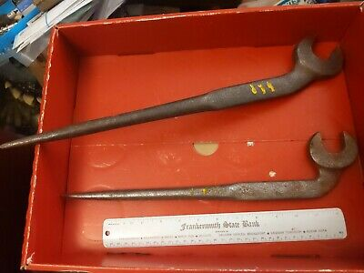 Lot of Spud Wrench Offset wrenches industrial tool vintage ironworker
