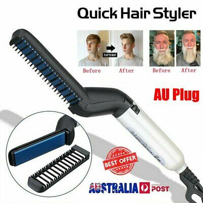 Quick Beard Straightener Multifunctional Hair Comb Curling Curler Show Cap Men U