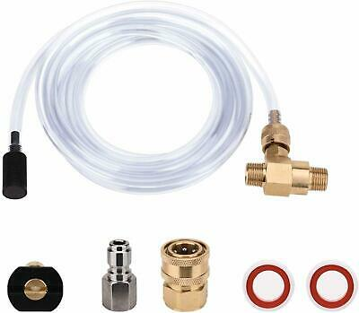 Pressure Washer Injector Kit Adjustable Soap Dispenser 3/8 Inch Quick Connect