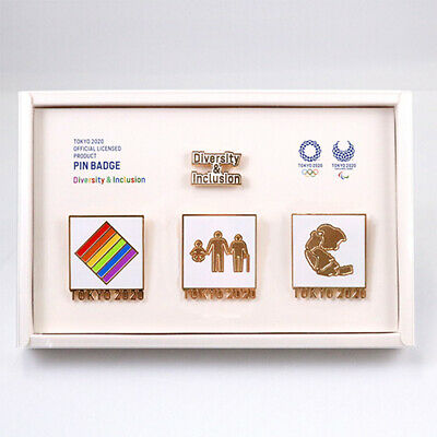 Tokyo 2020 Olympic Games Diversity&Inclusion Pin Badge 4 pieces Set Olympics D&I