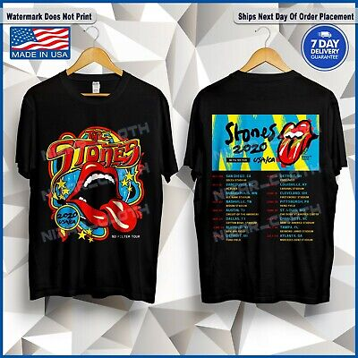 The Rolling Stones USA/CA No Filter Tour 2020 Concert T-Shirt Black Size S-5XL