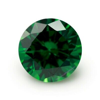 3.25 MM Green Round Shape Stone Cubic Zirconia (CZ) Loose Excellent Quality