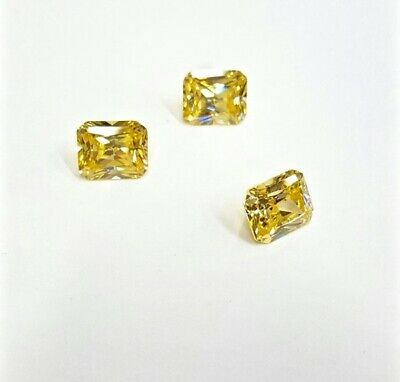 5x3 MM Yellow Radiant Shape Stone Cubic Zirconia (CZ) Loose Excellent Quality