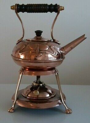Arts and Crafts Copper Kettle on stand