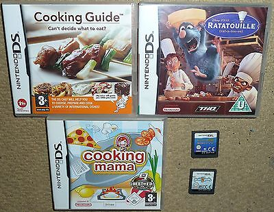 JOB LOT 5 NINTENDO DS DSI GAMES Cooking Mama Ratatoulle Purr Pals Pippa Funnell