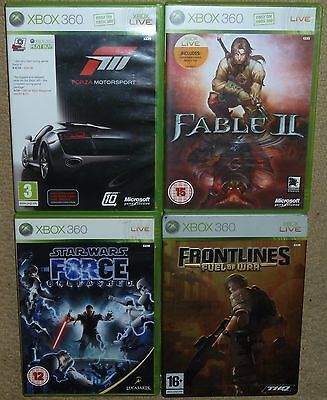 JOB LOT 4 x MICROSOFT XBOX 360 GAMES Fable 2 Forza 3 Star Wars Force Frontlines