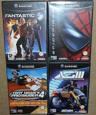 JOB LOT 4 x NINTENDO GAMECUBE GAMES Spiderman Fantastic 4 Tony Hawk Extreme G 3