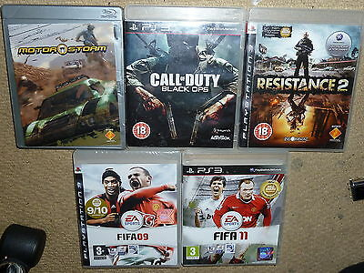 JOB LOT 5 x SONY PS3 GAMES Boxed Call of Duty Black Op Resistance 2 Motor Storm