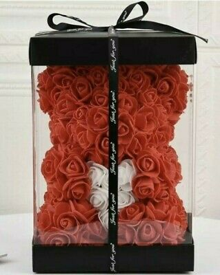 NEW! CHEAP Red Rose Flower Teddy Bear Valentine/Wedding/Birthday with Gift Box