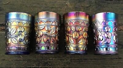 """Carnival Four Outstanding Examples Of Apple Tree Blue Tumblers """"Killer Color"""""""