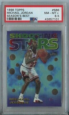 Michael Jordan 1997 98 Topps season's best #6 Chicago Bulls PSA 8.5