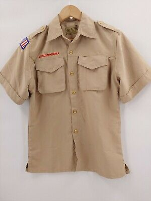 BOY SCOUTS Of America Uniform Shirt BSA youth Scout large