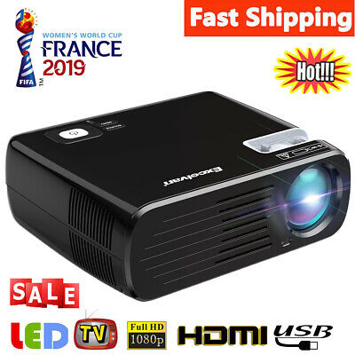 7000 lumens Outdoor LED 1080P Video Projector Home Theater Cinema HDMI USB New