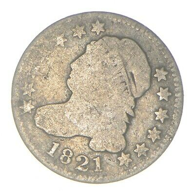 EARLY - 1821 - Capped Bust Dime - Eagle Reverse - TOUGH - US Type Coin *349