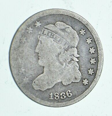 Rare - 1836 Capped Bust Half Dime - Tough to Find - US Early Silver Coin *436