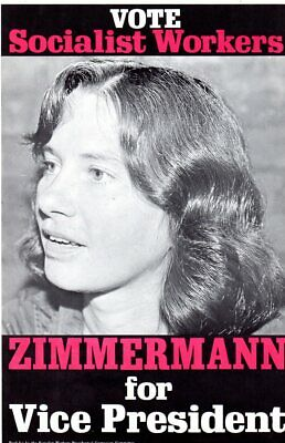 1976 Socialist Workers Party Zimmerman for President Campaign Poster