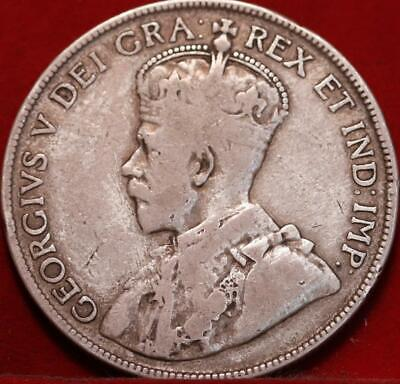 1917 Canada Silver 50 Cents Foreign Coin