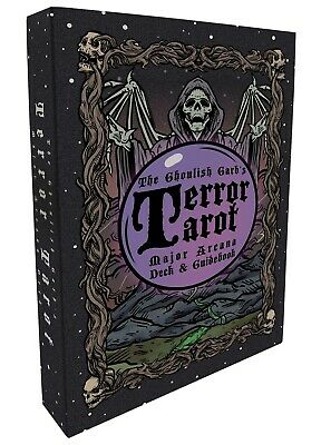 Terror Tarot - 22 Card Major Arcana Gothic Halloween Tarot Card Deck & Guidebook