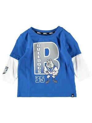 NEW BULLDOGS Nrl Toddlers L/S Tee by Best&Less
