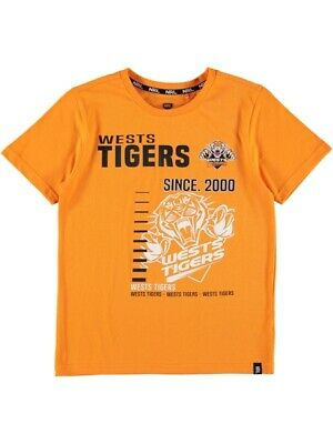 NEW TIGERS Nrl Yoyth S/S Tee by Best&Less