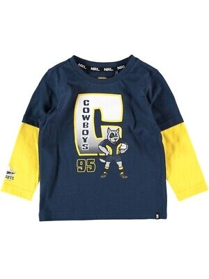NEW COWBOYS Nrl Toddlers L/S Tee by Best&Less