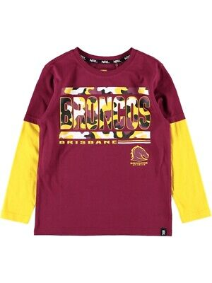NEW BRONCOS Nrl Youth L/S Tee by Best&Less