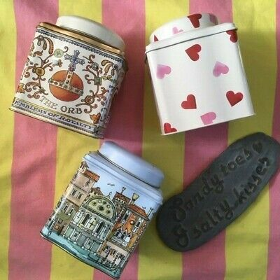 Emma Bridgewater Wavy Dome Lid Caddy - CROWN JEWELS, ARCHITECTURE, PINK HEARTS
