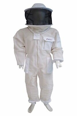 super quality full body breathable Beekeeping suit / round hat / size large