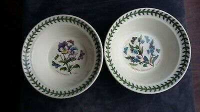 Portmeirion Botanic Garden 2 Fruit / Cereal Bowls ..Pansy And Speedwell