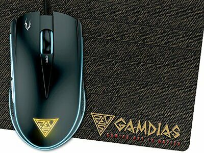 GAMDIAS Optial Gaming Mouse with 6 Smart Buttons Double Level MultiColor Ligh...