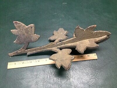 Antique Architectural Cast Iron Fence Finial Topper ~ As Is