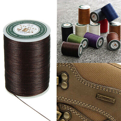Waxed Thread 0.8mm 90m Polyester Cord Sewing Machine Stitching For Craft WF DO