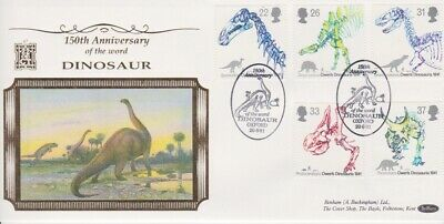 Gb First Day Cover 1991 Dinosaur Oxford Benham 500 Club Rares Collection