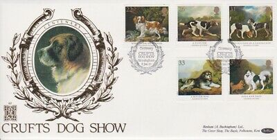 Gb First Day Cover 1991 Dogs Crufts Benham 500 Club Rares Collection