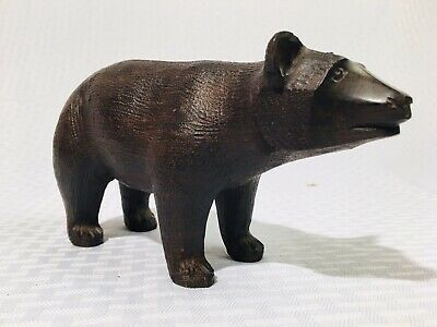 Antique Black Forest Carved Wood 19th Century Bear Outstanding! Folk Art