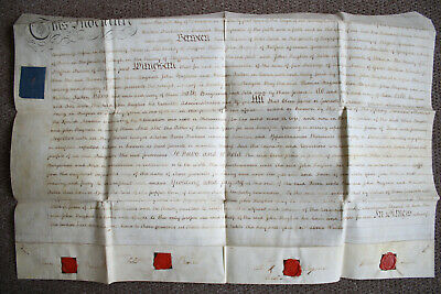 Fulford, Staffordshire, 1790,  Land Lease Indenture, Bagnall.