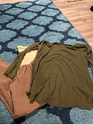 Lot Of Maternity Clothes Thirteen Pieces!! Size Large Motherhood Pea In The Pod
