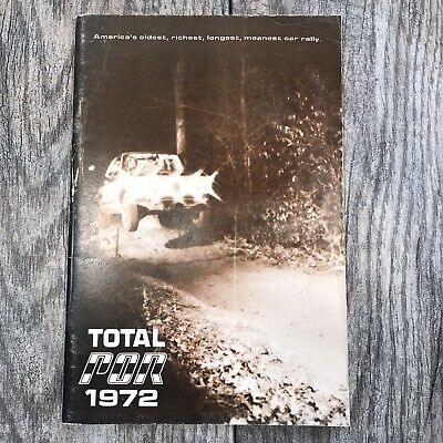 Vintage 1972 Press On Regardless International Rally Program Scott Harvey Colt