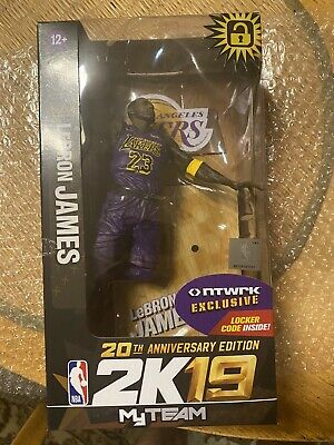 Lebron James ntwrk NBA 2K19 Figure Violet X McFarlane LA Lakers 20th Anniv.