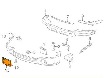 GM1068135 Front License Plate Bracket Plastic Fits 03-06 Chevrolet Silverado