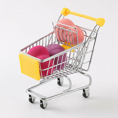 Supermarket Mini Metal Shopping Trolley Basket Kids Pretend Role Play Toys wd