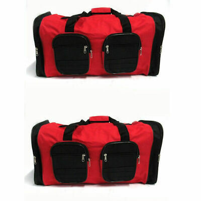 Travel Duffle Bag in Red - Set of 2