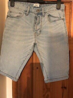 Mens Light Blue Skinny Jean Shorts Size 30 From Next