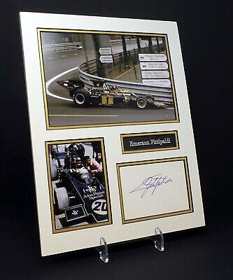 Emerson FITTIPALDI Signed Mounted Photo Display AFTAL Former F1 Driver