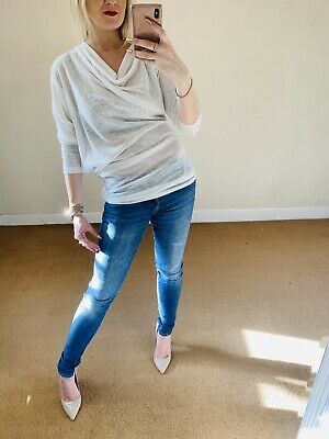 Mary Portas 10 Asymmetrical Off White Jersey Cowl Neck Top House Of Fraser