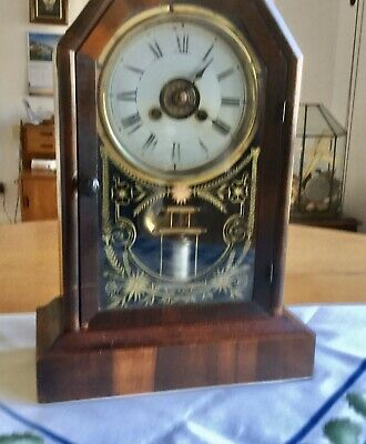 Antique Bracket Alarm Clock - Working With Key