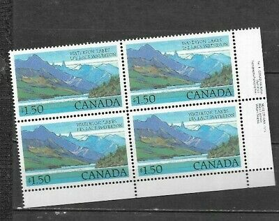 pk48200:Stamps-CANADA #935 Waterton Lakes $1.50 Lower Right Plate 1 Block - MNH