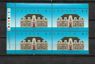 pk48207:Stamps-CANADA #1181 Runnymede $1.00 Upper Left Plate 1 Block - MNH